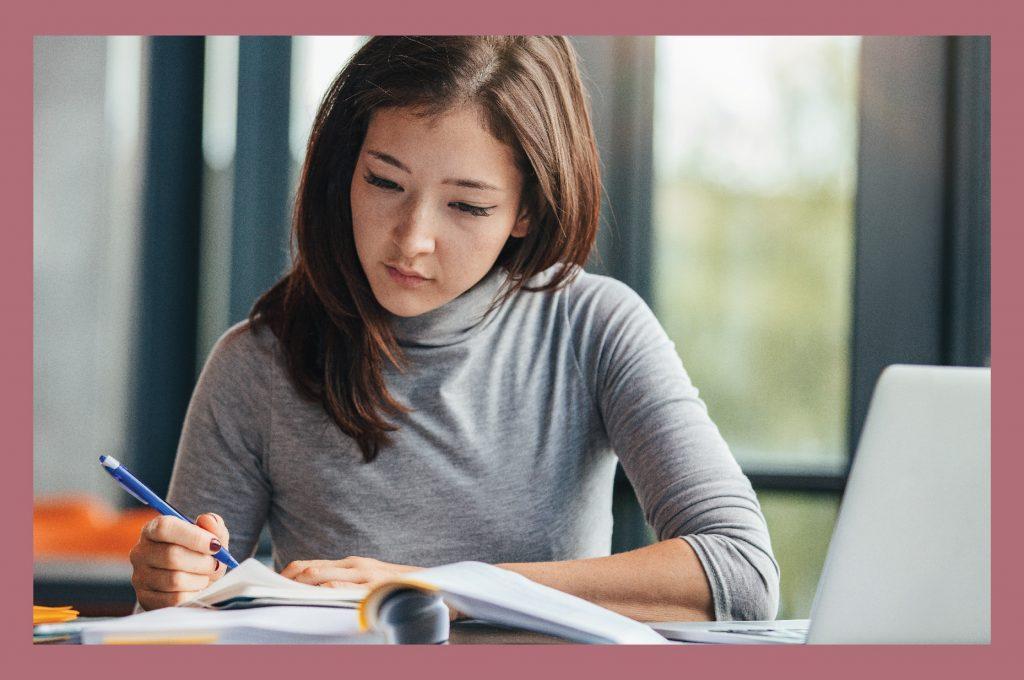 Asian Girl Studying 04