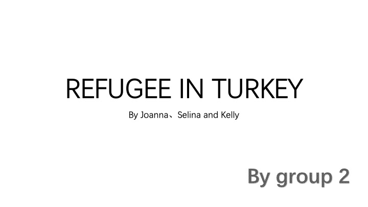Student Project Refugees in Turkey
